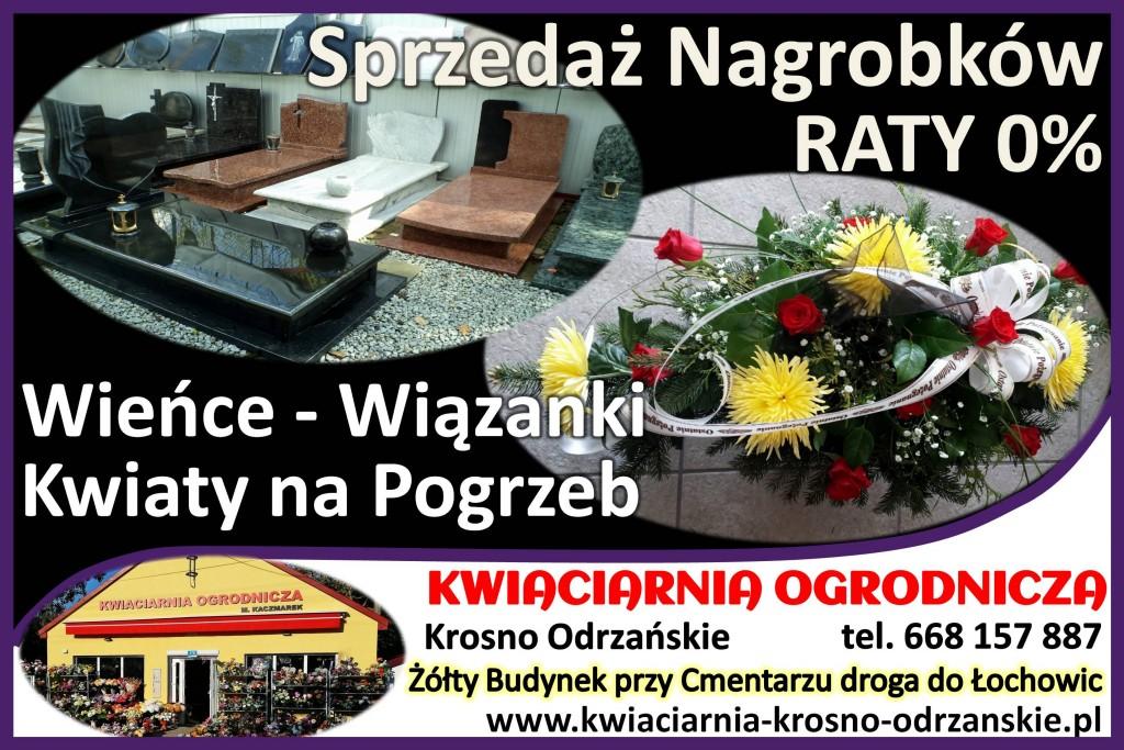 Nagrobki, Kwiaty na Pogrzeb Krosno Odrzańskie