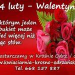 Walentynki dostawa kwiatów